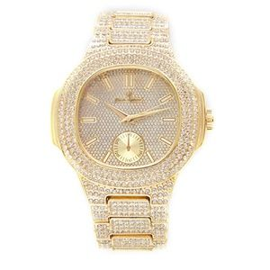 Other - Bust Down AP Watch Iced Out Watch CZ Diamonds Gold